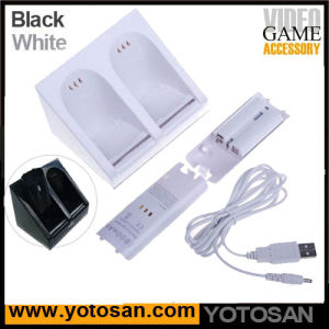 Dual Charge Station with 2 Rechargeable Batteries for Wii Remote Controller pictures & photos