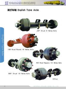Semi Trailer Axle - 13t ISO Stud English Type Axle