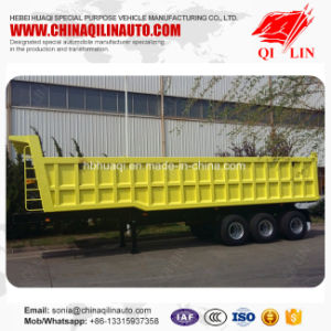 Cheap Price 3 Axles 60 Tons Hydraulic Cylinder Dump Semi Trailer pictures & photos