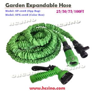 Portable Garden Hose Reel with 3 Screws Faucet and High Pressure Spray Nozzle