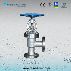 Stainless Steel Angle Type Globe Valve CF8 Pn64 Dn80 pictures & photos