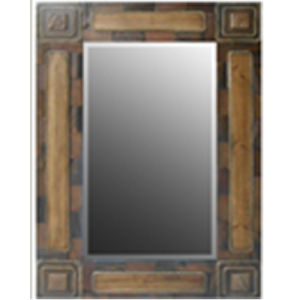 Wood Picture Rectangle Mirror Frame for Decoration (LH-423765) pictures & photos