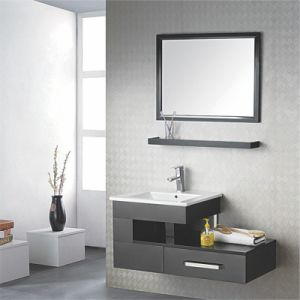 Bathroom Cabinet, Wash Basin Cabinet, Combination Set Wood Wash Basin PVC Bathroom Cabinet pictures & photos