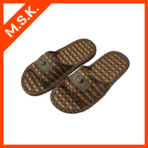 Indoor Shoes Paper Straw Slippers with Logo (MSK-SA101)