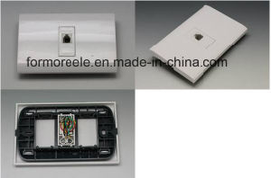 South America White PC Telephone Socket pictures & photos