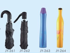 Auto Open Pure Color Fold Umbrella (JY-25) pictures & photos