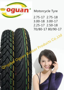 Long Life, Factory Direct, High Quality Motorcycle Tyre 3.00-17 3.00-18 pictures & photos