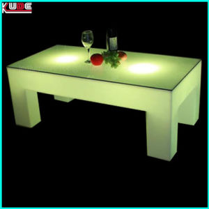Multi-Color Four Footstool Illuminated Tea Table for Living Room pictures & photos