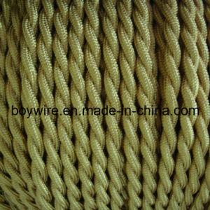 Olive Green 2 Core Braided Lighting Wire pictures & photos