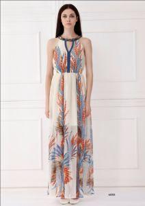 Latest Designer Dresses New Fashion 2014. Woman Sleeveless Long Fashion Dress 65005