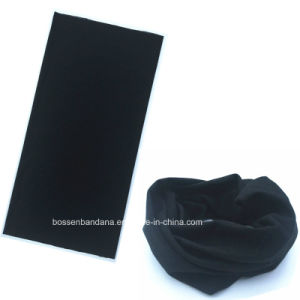 OEM Produce One Color Dyed Black Polyester Multifunctional Bandanna pictures & photos