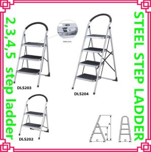 Household Round Tube Step Ladder pictures & photos