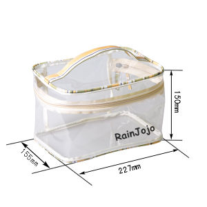 Transparent PVC Cosmetic Bag with Handle pictures & photos