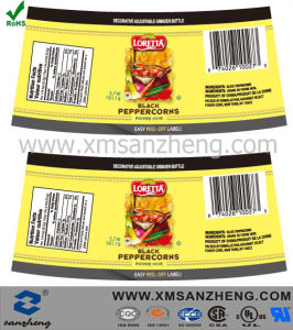 Full Color Printing Food Adhesive Labels pictures & photos