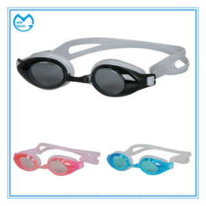 Silicone Gasket Anti Fog Swimming Goggles for Competition pictures & photos