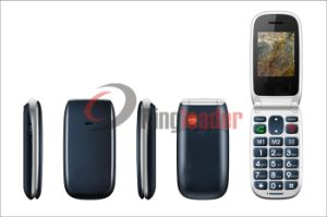 "2.2"" Dual SIM Quad-Band Flip Elderly Phone (W72) pictures & photos"