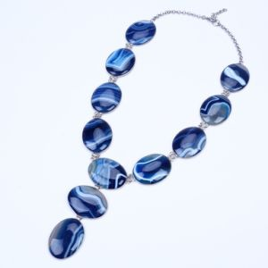 Heavy Agate Beads Langding Statement Necklace pictures & photos