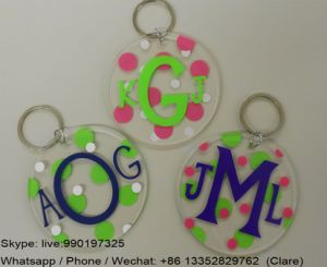 Promotion Perspex Keychain with Customized Logo pictures & photos