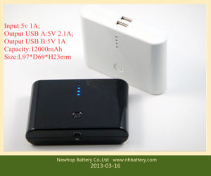 12000mAh Power Bank for iPhone and Samsung Phones