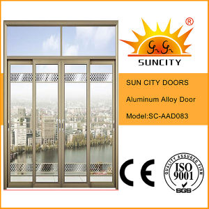 Aluminium Glass Double Panel Sliding Door pictures & photos
