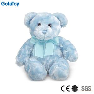 Light Blue Color Plush Toy Bear for Baby Boy Teddy Bear with Ribbon pictures & photos