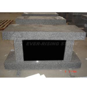 Granite Cremation Bench, Single Niche Columbarium