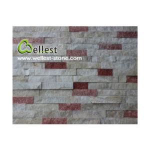 Ql-Mc-F01h White & Peach Jade Quartzite Culture Stone Feature Wall pictures & photos