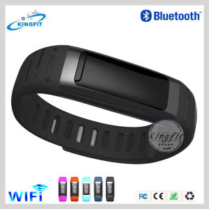 Newest Waterproof & Shockproof Pedometer WiFi Bluetooth Bracelet for iPhone6 and Samsung S5 pictures & photos