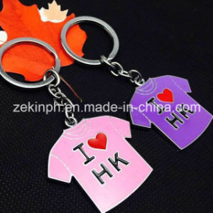 Custom Cheap T-Shirt Shape Metal Key Chains pictures & photos