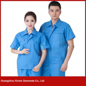 Custom Made Short Sleeve Work Wear for Summer (W222) pictures & photos