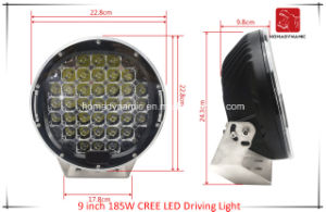 LED Car Light of 9 Inch 185W CREE LED Driving Light for SUV Car LED Offroad Light and LED Work Light pictures & photos