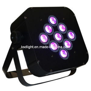 9PCS 4W 4in1 RGB Quad-Color LED Large Power Consumption Charging PAR Light Wireless Receiving (led-9)