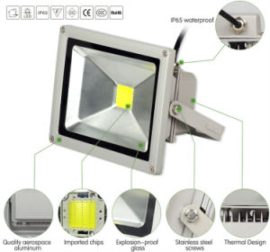 Competitive LED Popular IP65 Waterproof COB 10W 20W Floodlight pictures & photos