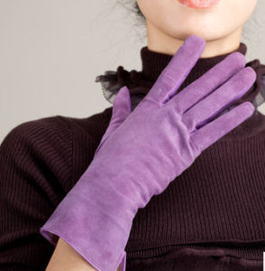 Suede Leather Glove Classical Style (WTS878)