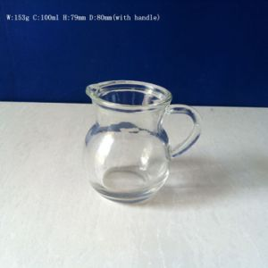 100ml Glass Cup Glass Wine Distributor with Handle pictures & photos