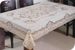 PVC Long Lace Tablecloth (JFTB-002) pictures & photos