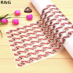 24*40cm Hot Fix Rhinestone Mesh Trimming for Dress pictures & photos