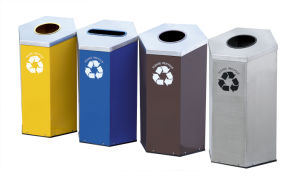 Hexagonal Style Recycle Bin with Classified (HW-167) pictures & photos