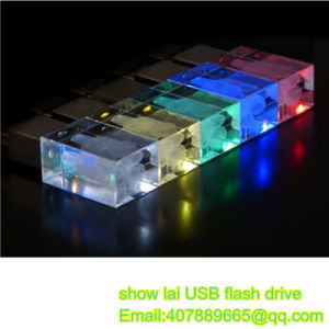 USB Flash Drive Glass Laser Logo OEM USB Stick USB Pendrives Flash Disk USB Memory Card USB 2.0 Flash drive memory Stick Thumb Drive pictures & photos