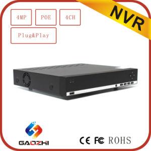 H. 264 P2p 4MP 4CH Poe CCTV Security Network DVR pictures & photos
