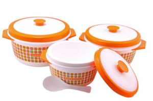Food Warmer 3PC Plastic Container pictures & photos