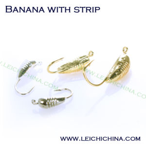 Winter Is Coming Tungsten Ice Jig Banana with Strip pictures & photos