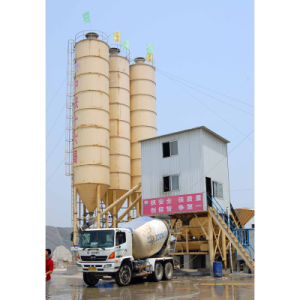 90m3/H Stationery Concrete Mixing Plant pictures & photos