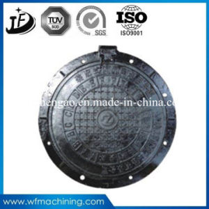 Road Sanitary Sand Casting Wrought Iron Double Hinged Sealed Round Clearing Open 600mm Drain/Sewer Manhole Cover pictures & photos