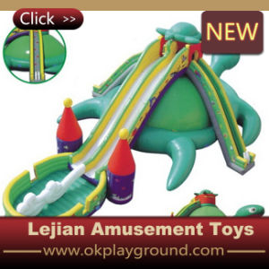 Lovely Dinosaur Looking Inflatable Slide Children Toy with En1176 pictures & photos