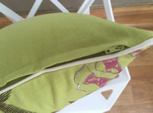 Green Canvas Embroidery Cushions pictures & photos