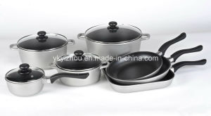 11PCS Die-Cast Aluminum Non-Stick Cookware Set pictures & photos