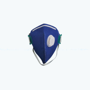 Clam Type 3ply Active Carbon Foldable Blue Breath Valve Mask pictures & photos