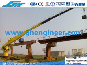 3.2t/8.1m Hydraulic Telescopic Boom Marine Crane pictures & photos