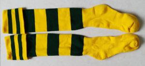 Long Custom Cotton Soccer Socks pictures & photos